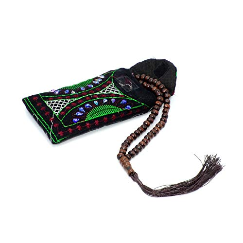 - (Free Gift) A New Elegant Muslim Prayer Beads - Brown Color - (Big Beads - 8 mm 99 Beads) Tesbih-Tasbih-Tasbeeh-Misbaha-Masbaha-Subha-Sebha-Sibha-Worry Beads