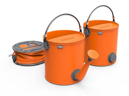 - COLOURWAVE Collapsible 2-in-1 Watering Can/Bucket, 7-Liter, Juicy Orange