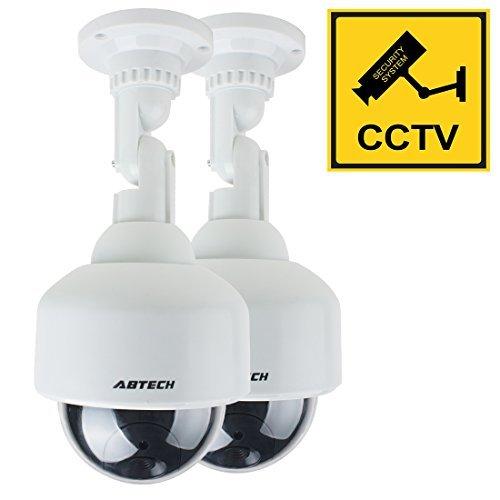 DealMux simulada falsa seguridad de la vigilancia de la cámara CCTV domo al aire libre de interior con luz roja LED de advertencia de batería AA accionado + ...