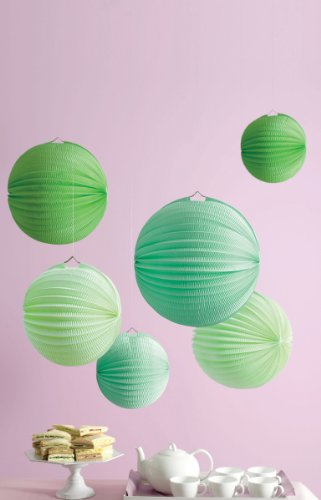 Martha Stewart Crafts Lanterns, Green Accordion