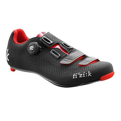 良心アベニューメロドラマティックFizik(フィジーク) R4B UOMO Men's Road Cycling Shoes - Black/Red [Size 36~44EUR] [並行輸入品]