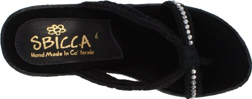 Black Women's Jewel Wedge Sandal Sbicca wFnRUfx6qF