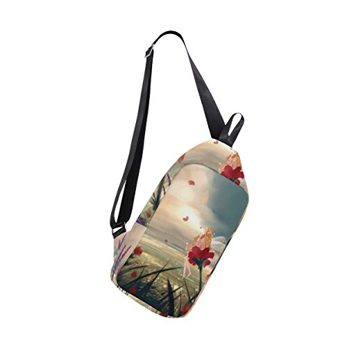 Bags Field Women Sling Shoulder Men Flowers amp; One Crossbody Bennigiry Backpack Chest Bag Poppy For 1EqIWa6
