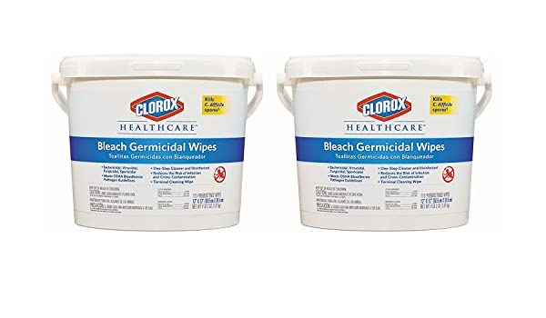 Amazon.com: Clorox Healthcare Germicidal Wipes, 12 x 12, Unscented, 110/Canister - Includes two canisters of 110 each.: Health & Personal Care
