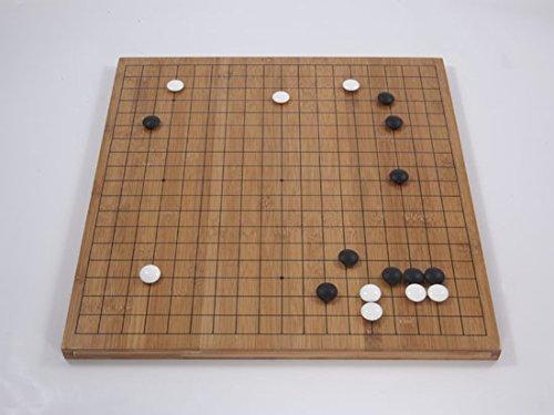 Go-Spiel: Bambusbrett, 19x19/13x13, 20mm, dunkel mit gedruckten Linien