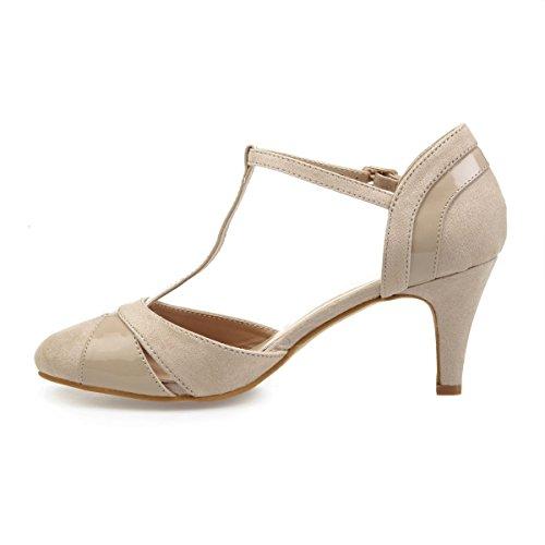 44832 De Modeuse Material Mujer Zapatos Vestir La Beige Sintético qFx5SwFC