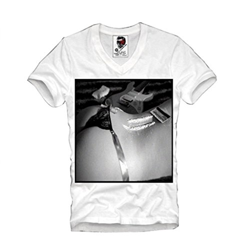 E1SYNDICATE V-NECK T-SHIRT COCAINE DOPE STRING PIN UP LAST KINGS S-XL (King For Last Shirt Women)