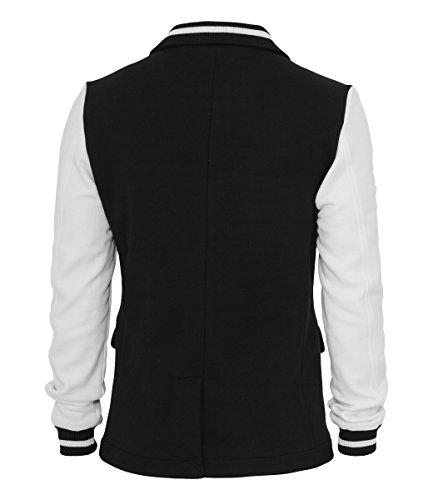 Urban Classics Sweat Cardigan Black/White, Black,