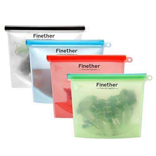 Bolsa de silicona reutilizable para almacenamiento de ...