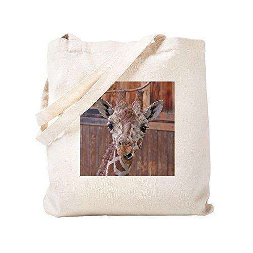 Goofy Giraffe - CafePress - Goofy-Giraffe - Natural Canvas Tote Bag, Cloth Shopping Bag