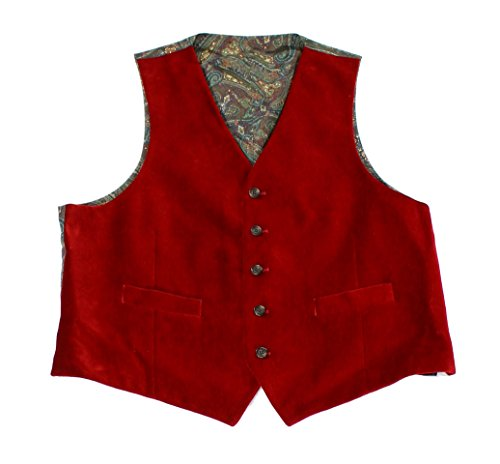 Cotton Velvet Vest (Lauren Ralph Lauren Men's Classic-Fit Velvet Vest (X-Large, Red))