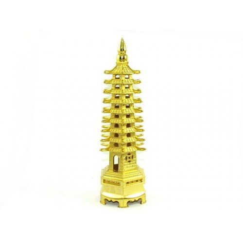 Ratnatraya Metal 9 Tier Pagoda Tower For Student's Education Success/Victory | 9 Level Tower For Business Growth and Gift Items