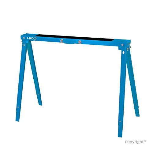 HICO Sawhorse Folding Metal Sawhorse - 5 Height Adjustable Single pack