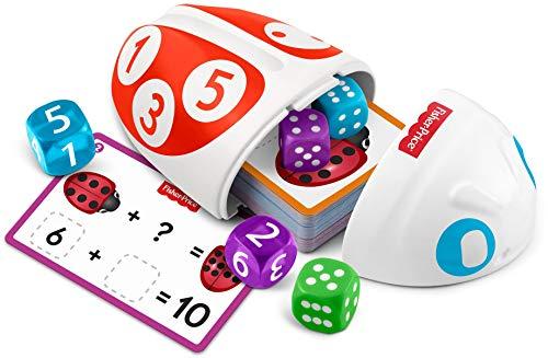 Fisher-Price Coccinelle Lancer et Compter, jouet pour enfant avec dés et cartes pour apprendre à compter en s'amusant, 3 à 6 ans, FXG23