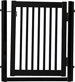 """product image for Dynamic Accents Amish Craftsman Citadel Pressure Mount Pet Gates are Handcrafted 34"""" High - spans a 32"""" Opening/Black"""