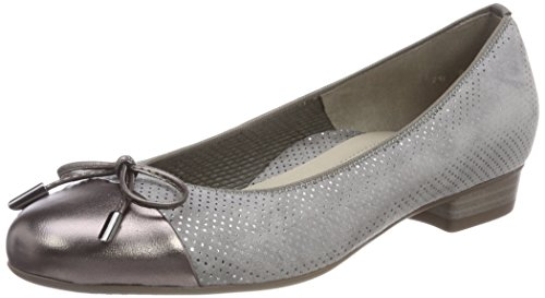ara Women's Bari Ballet Flats Grey (Street,rauch 45)