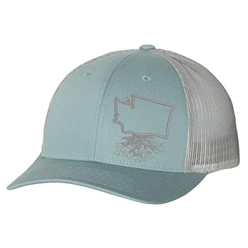 Wear Your Roots Washington Low Profile Snapback, Grey, One Size - Adjustable