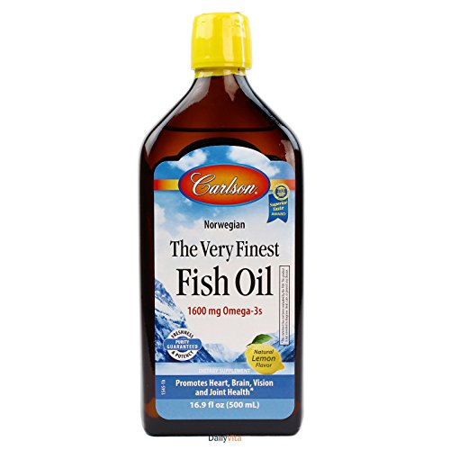 Fish Oil Lemon Flavor - Carlson The Very Finest Fish Oil - Natural Lemon Flavor
