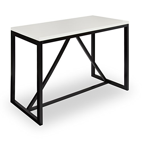 - Kate and Laurel Kaya 36-Inch Tall Pub/Bar Table, Two-Toned Wood, White and Black