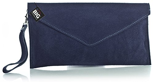 Marine italien de poudré en Pochette Z style Soldé Soldé Bleu enveloppe LIATALIA clutch 'Leah' Orange suède soirée z 5UTOnw8q