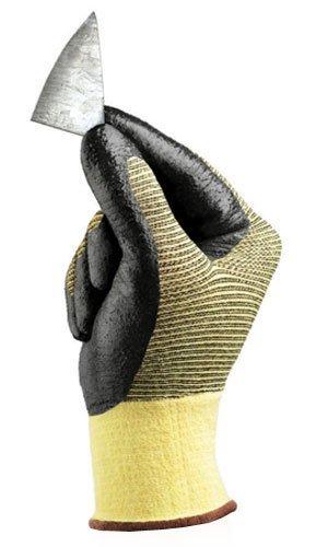 Ansell 11-510-10 Size 10 Hyflex Light Duty Coated Work Gloves Black