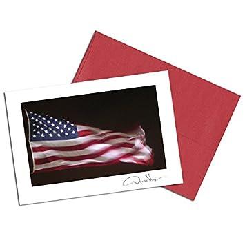 amazon com american flag note cards night glory 3 5x5 set of 8