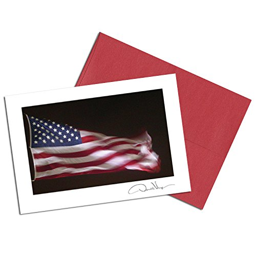 American Flag Note Cards. Night Glory. 3.5x5. Set of 8 Blank Cards Matching Envelopes. Great Birthday Cards, Thank You Notes & Invitations. Best Quality Christmas, Mother's Day & Valentine's Day Gifts
