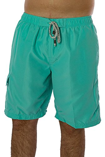 Exist Men's Solid Color Swimwear 100% Polyester Quick Dry Board Shorts Bathing Suit Surf Beach Swim Trunks