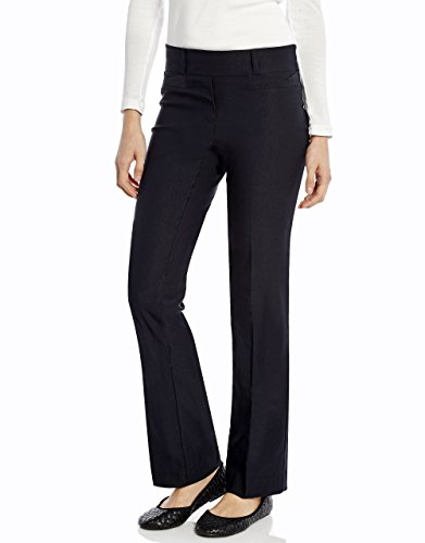 Leveret Women Boot Cut Pants (14, Navy)