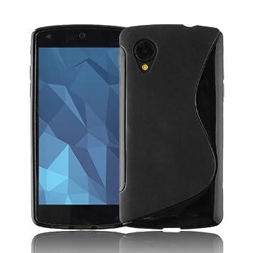 Cadorabo de de 105438 LG Nexus 5 Funda Carcasa de Silicona Flexible TPU Estilo S Line de diseño Negro