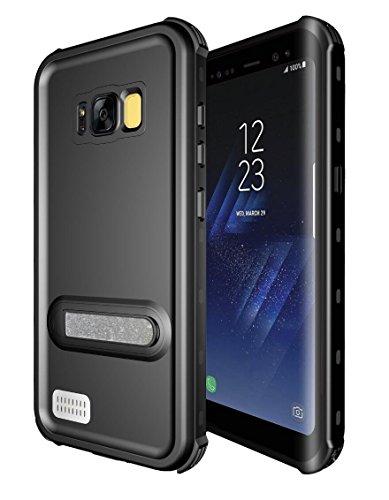Galaxy S8 Plus Waterproof Case,Underwater Cover Full Body Protective Shockproof Snowproof Dirtproof IP68 Certified Waterproof Case with Kickstand for Samsung Galaxy S8 Plus (Black)