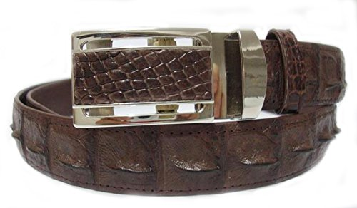 Brown Crocodile Belt (Happylife CROCODILE LEATHER BELLY MEN'S BELT DARK BROWN UNIQUE)