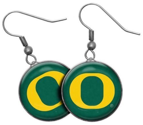 - Stockdale NCAA Oregon Ducks French Hook Dangle Earrings with College Sports Team Logo