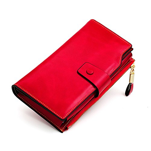 I am thoughly impressed with my new wallet.  It has so many different spaces for my cards and cash and even a separate on for just my change.  The color i