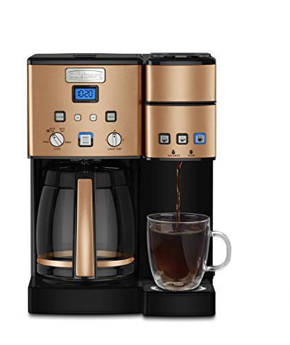 Cuisinart SS-15CP 12 Cup Coffee Maker And Single-Serve Brewer, Copper Dual Espresso Programmable Coffee Maker
