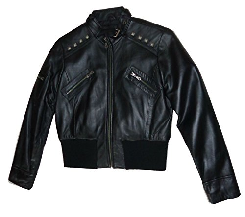 United Face Womens Soft butter Leather Jacket Black Medium