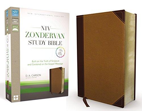 NIV Zondervan Study Bible, Imitation Leather, Tan/Brown
