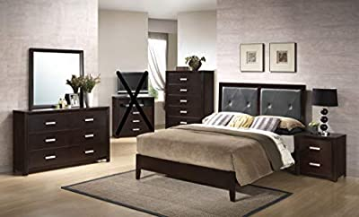 GTU Furniture Classic Louis Philippe Styling Grey Louis Philippe Twin/Full/Queen/King Bedroom Set
