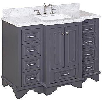 Kitchen Bath Collection Kbc1248gycarr Nantucket Bathroom Vanity With