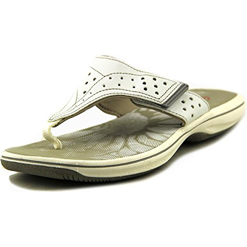 White Synthetic Toe Thong öffnen Clarks Brinkley Sandale zqnH44