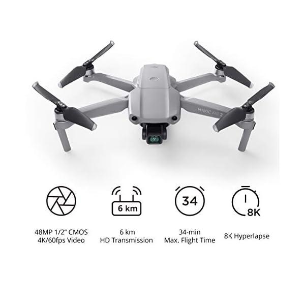 DJI Mavic Air 2 - Drone Quadcopter UAV con fotocamera da 48 MP video 4K 1/2 pollice CMOS sensore cardanico 3 assi 34min tempo di volo ActiveTrack 3.0 - Grigio 2 spesavip