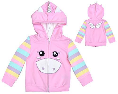 Mini Jiji Stretch Hoodie/Jacket for Baby Infant Toddler Kids (Unicorn (4 yr.), Unicorn)