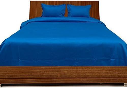 300 Hilos Juego de sábanas Euro Doble IKEA Azul Turquesa Azul ...