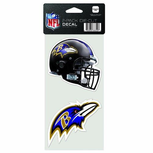 NFL Baltimore Ravens 2-Piece Die-Cut Decal, 4