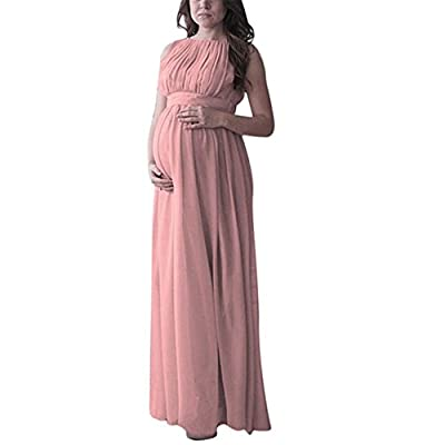 Maternity Gown, Sleeveless Photography Props High Waist Long Maxi Pregnant Baby Shower Dress
