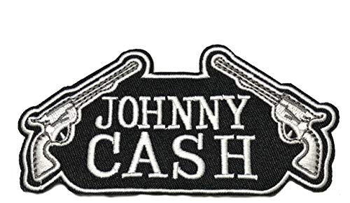 Johnny Cash Embroidered Patch Tactical Military Morale Biker Motorcycle Quote Saying Humor Music Series Iron or Sew-on Emblem Badge Appliques Application Fabric Patches - Johnny Cash Patches