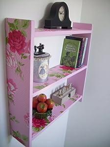 60cm Pink Rose Polka Dot Kitchen Shelves, Bathroom Shelves ...