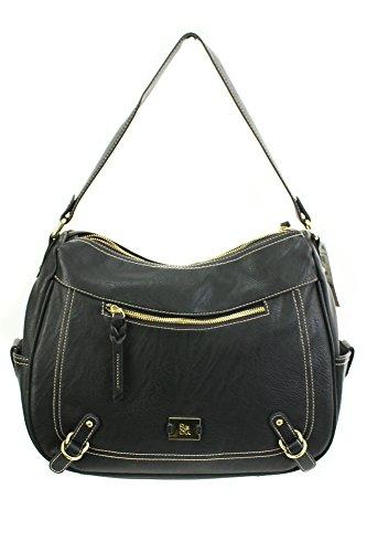 Style&co. Handbag, Precious Cargo Hobo, Black