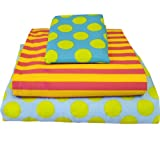Marvelous Dots Stripes Missmatched Twin Sheet Set