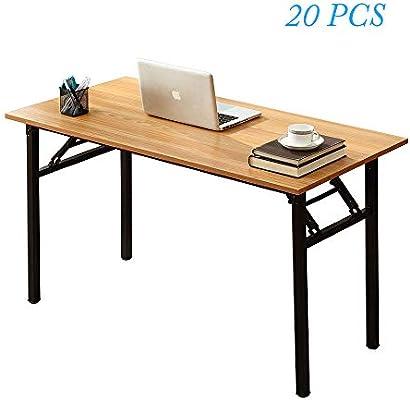 Escritorio plegable para ordenador de madera de teca, 47,2 x 23,6 ...